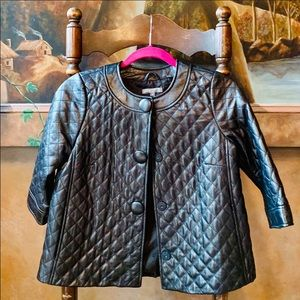 ✨🌟Vince Leather Quilted Jacket Black ✨0 ✨